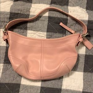 Coach mini hobo pink purse